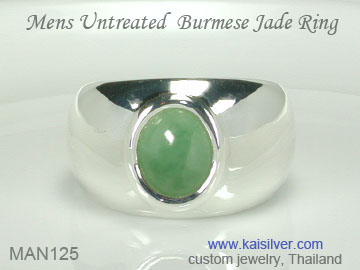 green gem ring for men jade